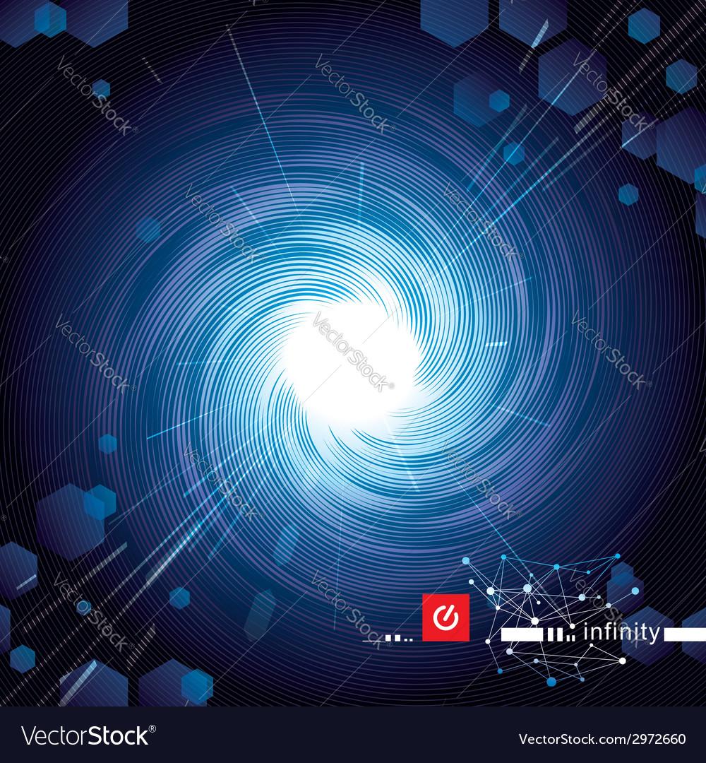 Vortex blue tech vector | Price: 1 Credit (USD $1)