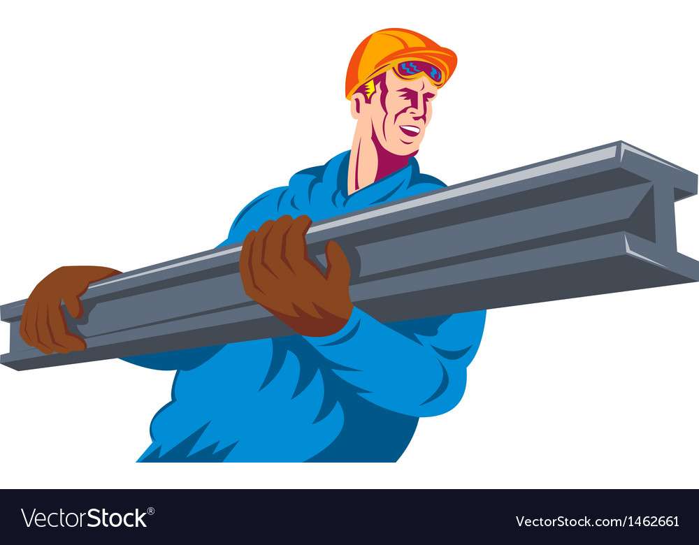 Construction worker at work vector | Price: 1 Credit (USD $1)