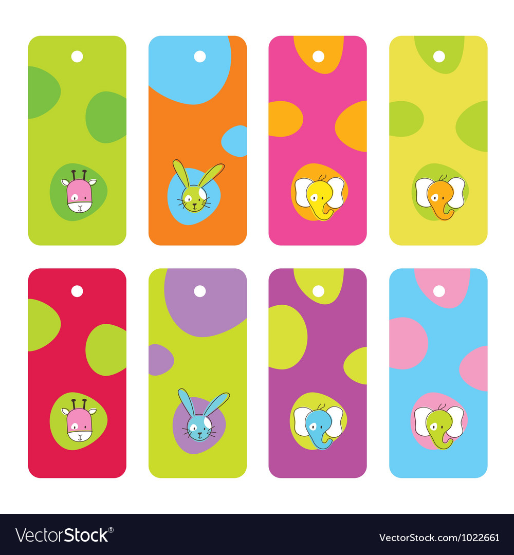 Cute birthday gift tags vector   Price: 1 Credit (USD $1)