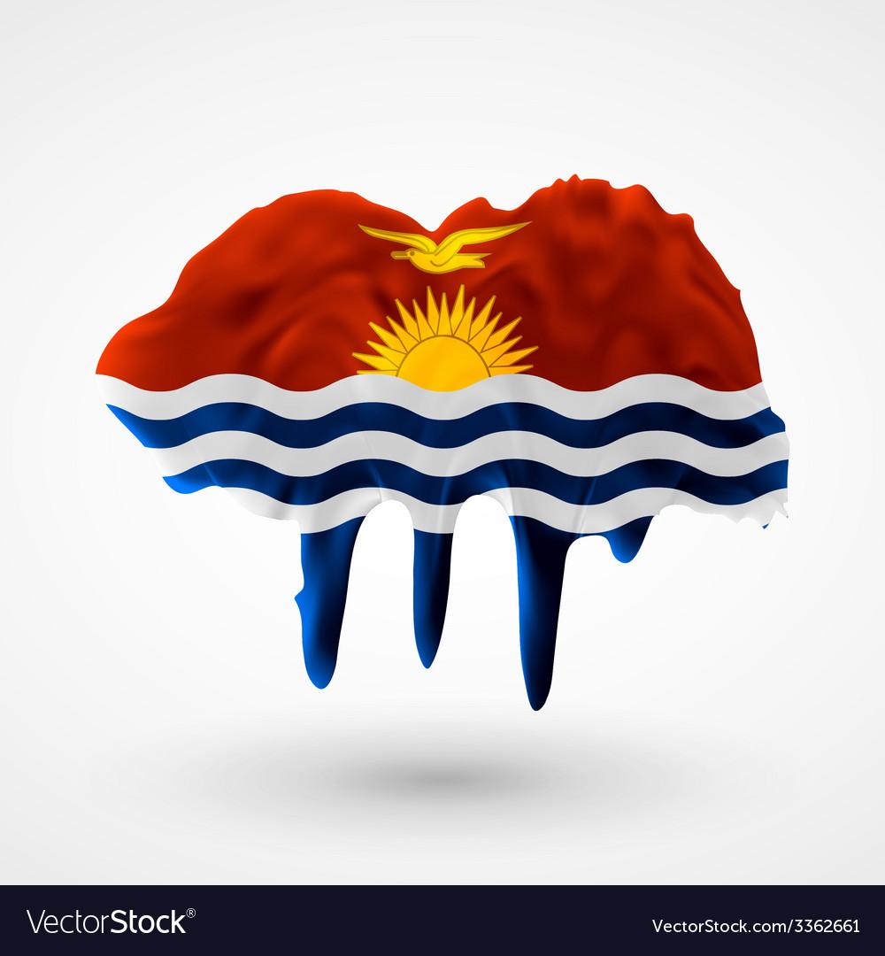 Flag of kiribati painted colors vector | Price: 3 Credit (USD $3)