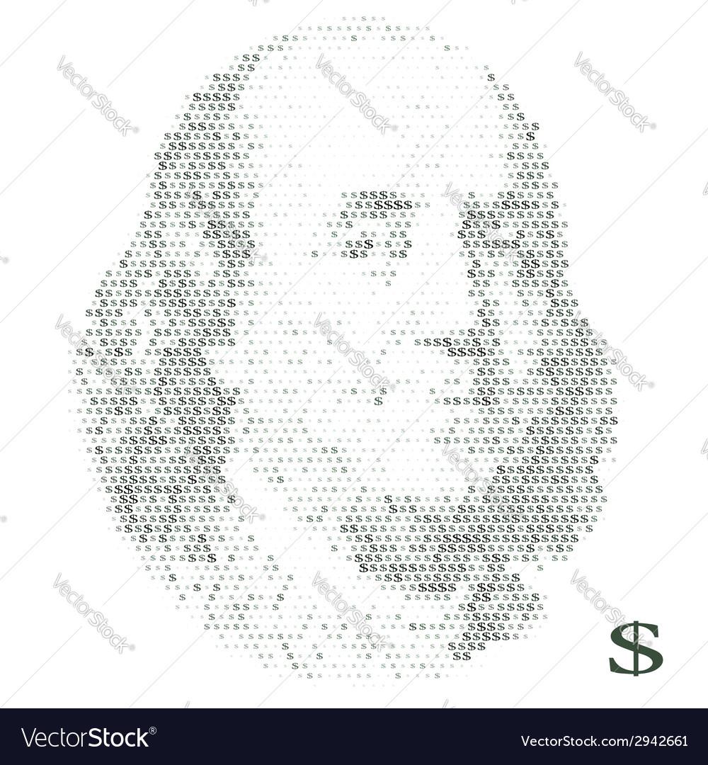 Franklin portrait with dollar simbols vector | Price: 1 Credit (USD $1)