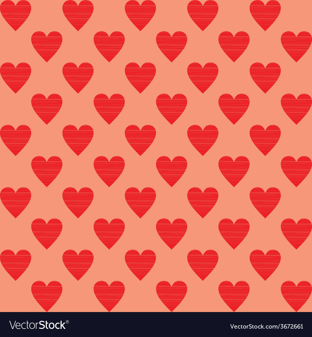 Heart background seamles pattern background vector | Price: 1 Credit (USD $1)