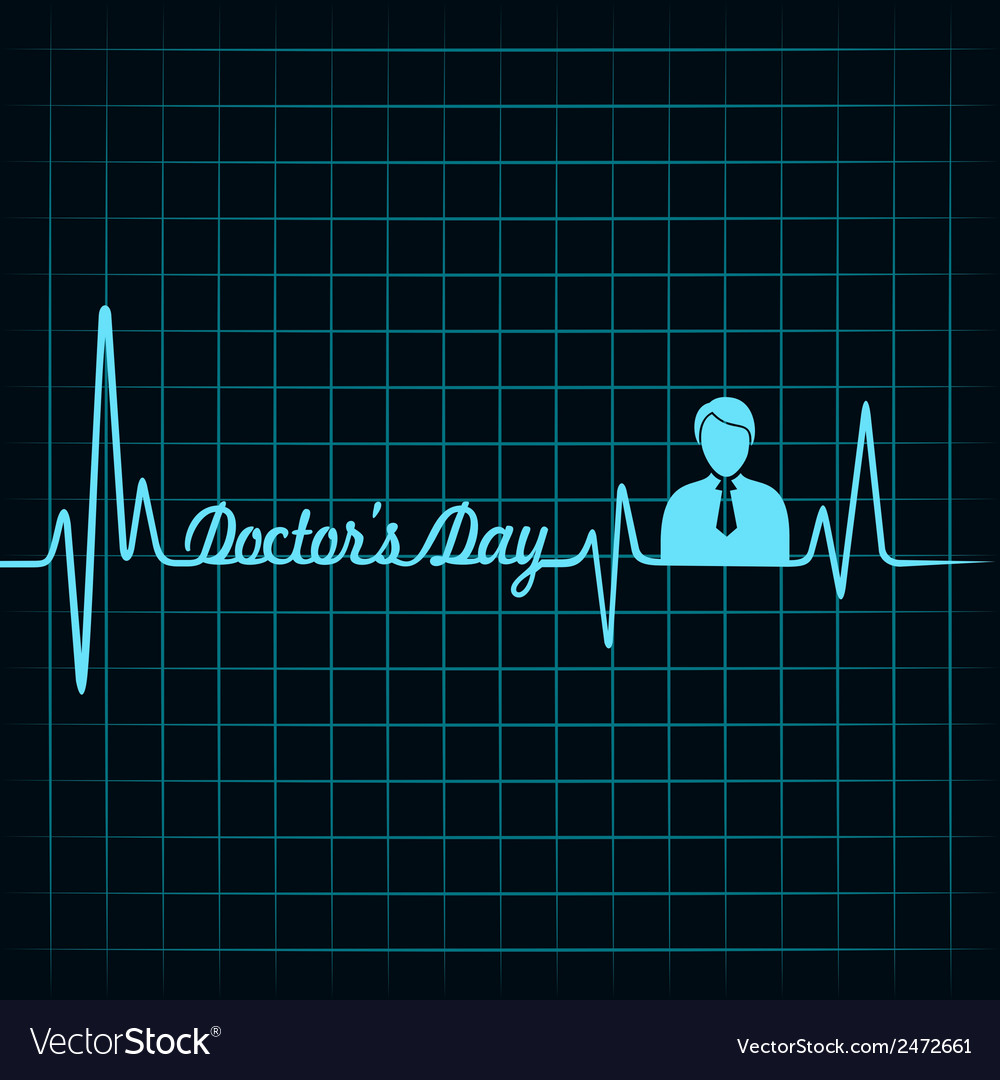 Heartbeat make doctors day text and symbol stock v vector | Price: 1 Credit (USD $1)