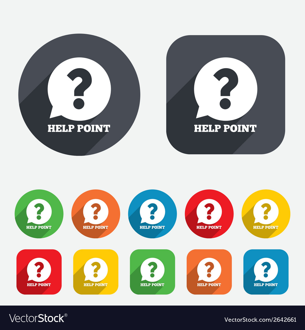 Help point sign icon question symbol vector   Price: 1 Credit (USD $1)
