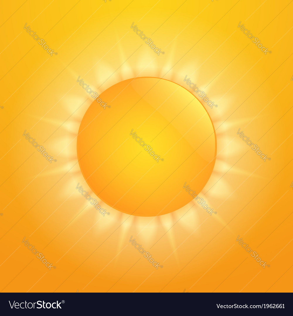 Hot sun vector | Price: 1 Credit (USD $1)