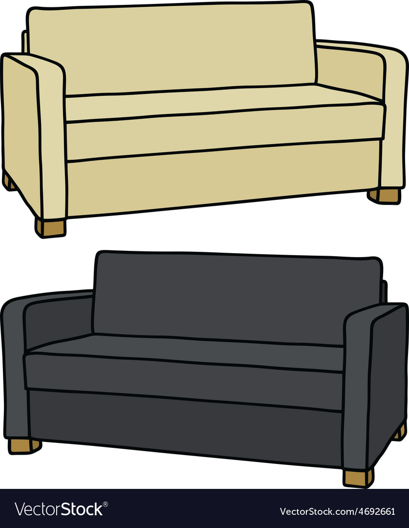 Light and dark couches vector | Price: 1 Credit (USD $1)