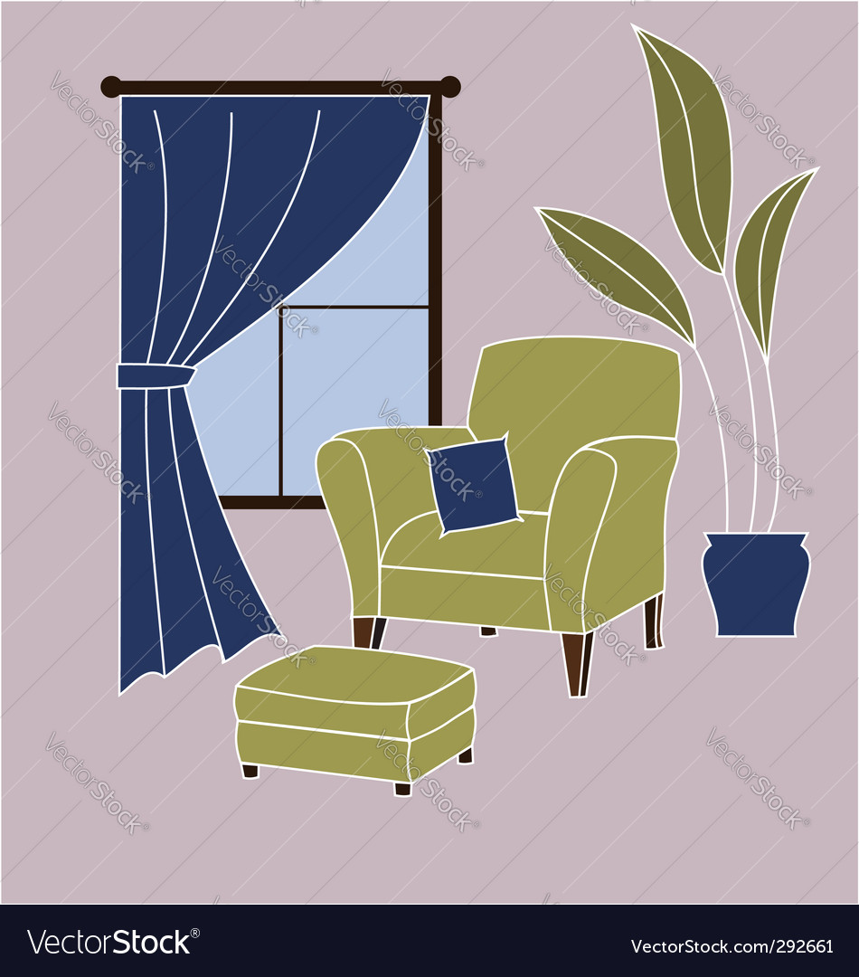 Living room corner vector | Price: 1 Credit (USD $1)