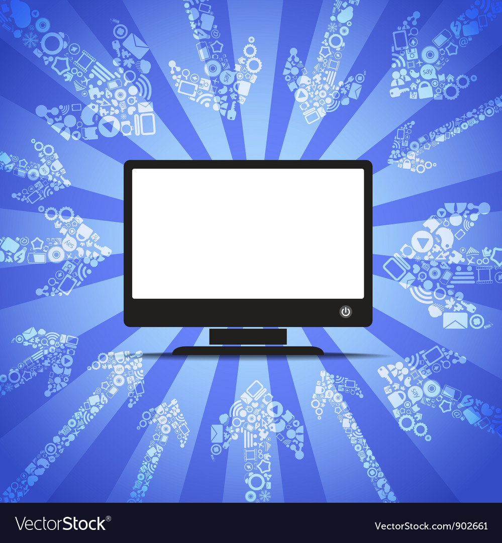 Modern monitor vector | Price: 1 Credit (USD $1)