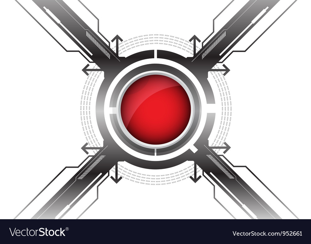 Modern red button vector | Price: 1 Credit (USD $1)