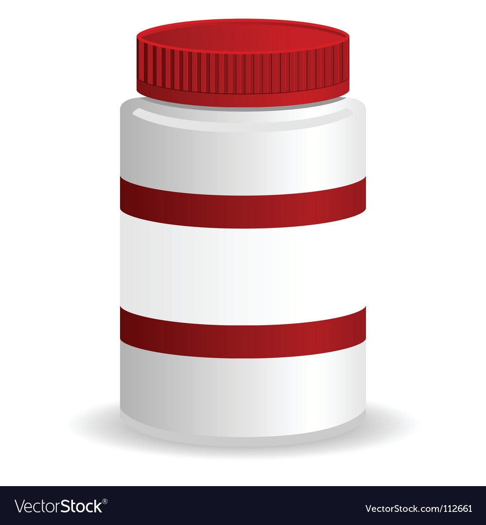 Plastic jar vector | Price: 1 Credit (USD $1)