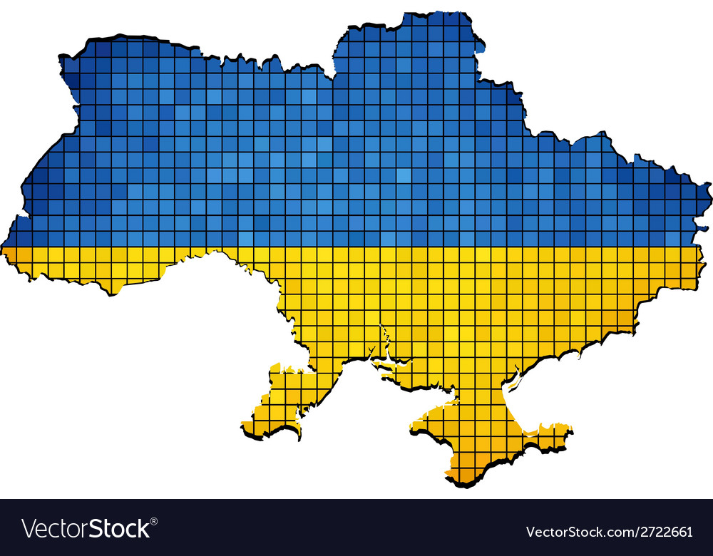 Ukraine map grunge mosaic vector | Price: 1 Credit (USD $1)