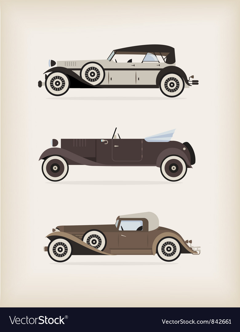 Vintage car vector | Price: 3 Credit (USD $3)