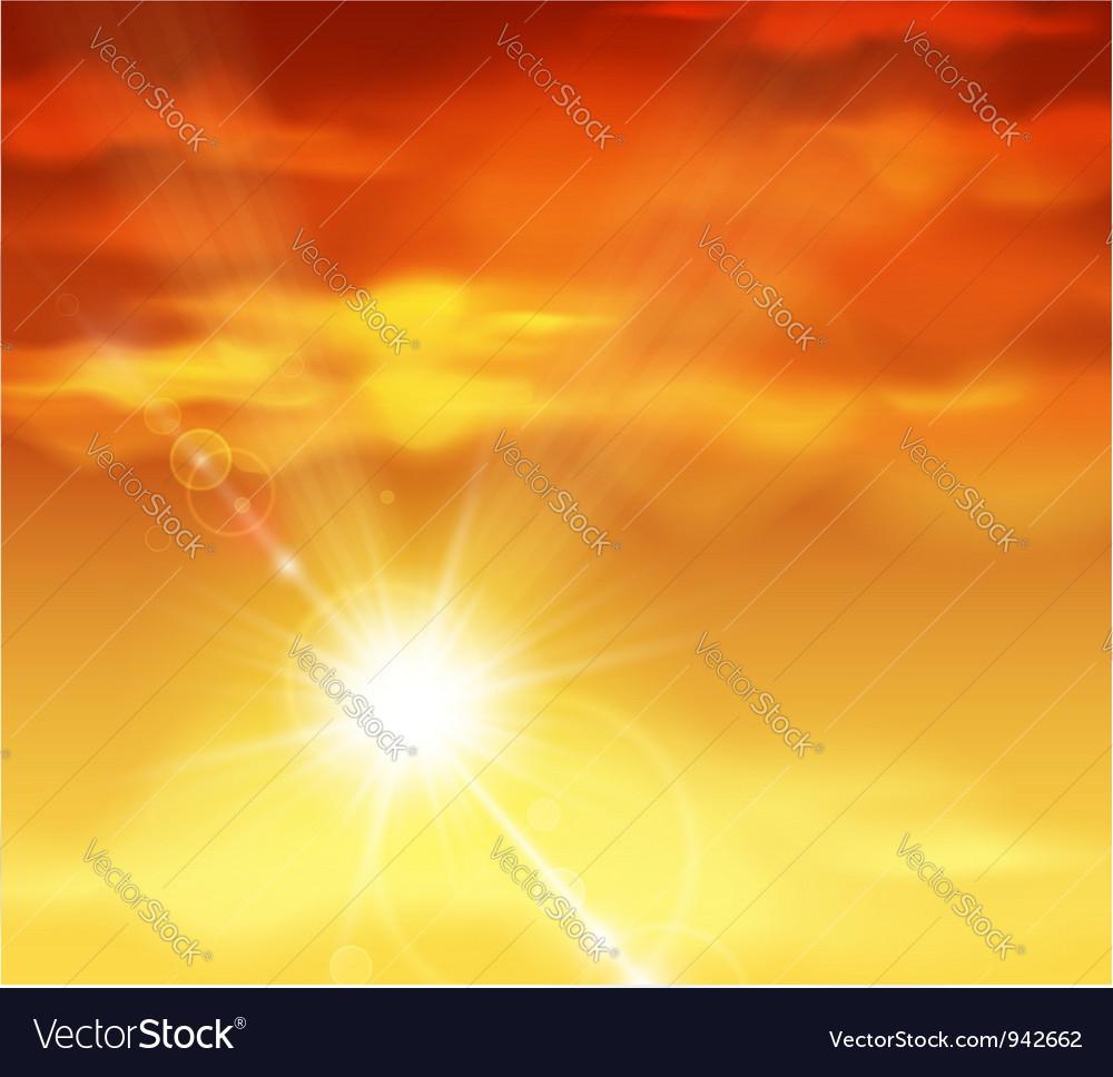 Beautiful sunset vector | Price: 1 Credit (USD $1)