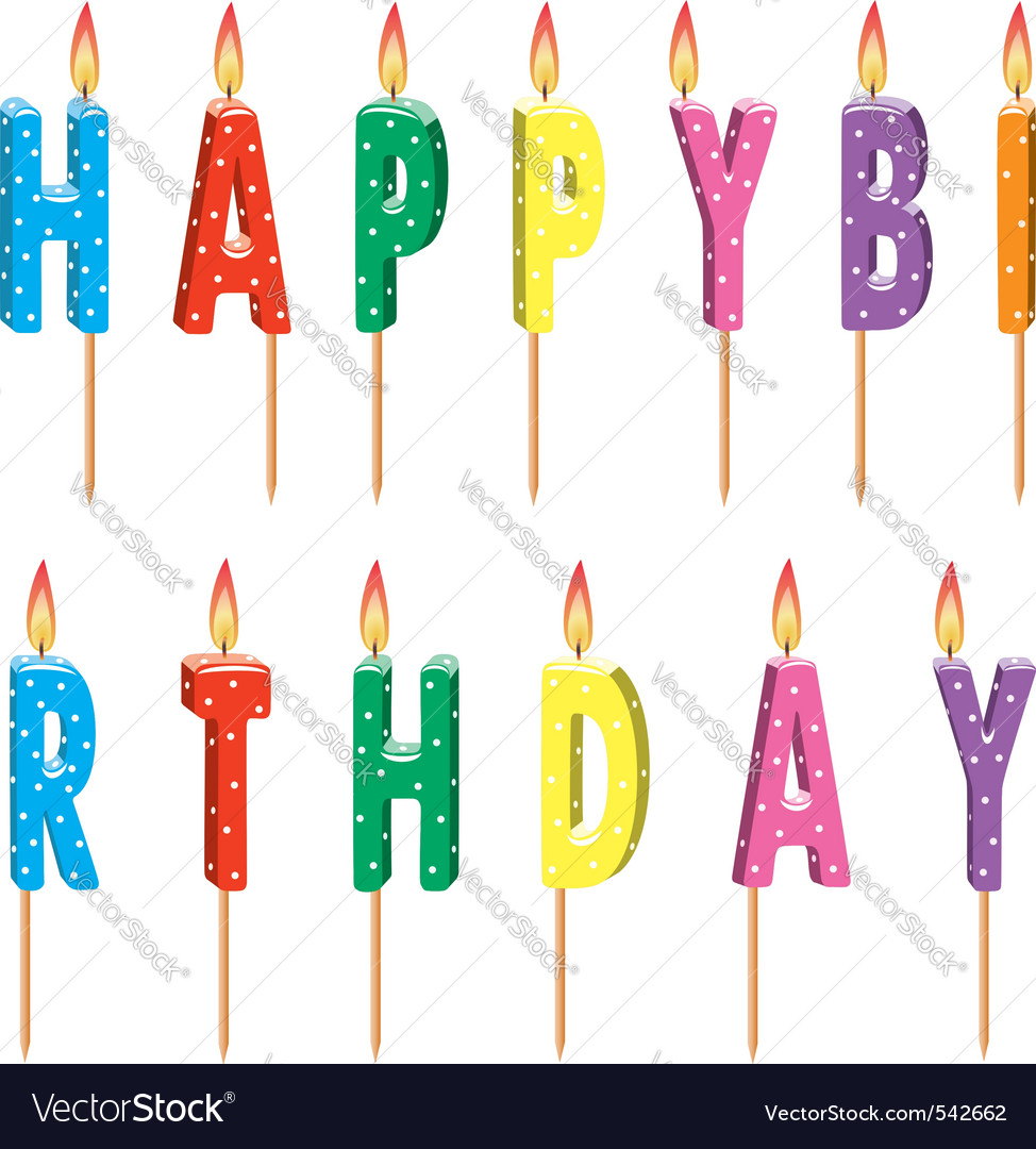 Colorful birthday candles vector   Price: 1 Credit (USD $1)