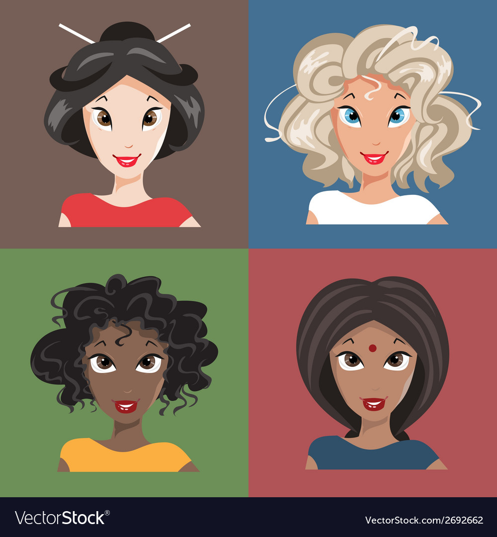 Different nationalities vector | Price: 1 Credit (USD $1)