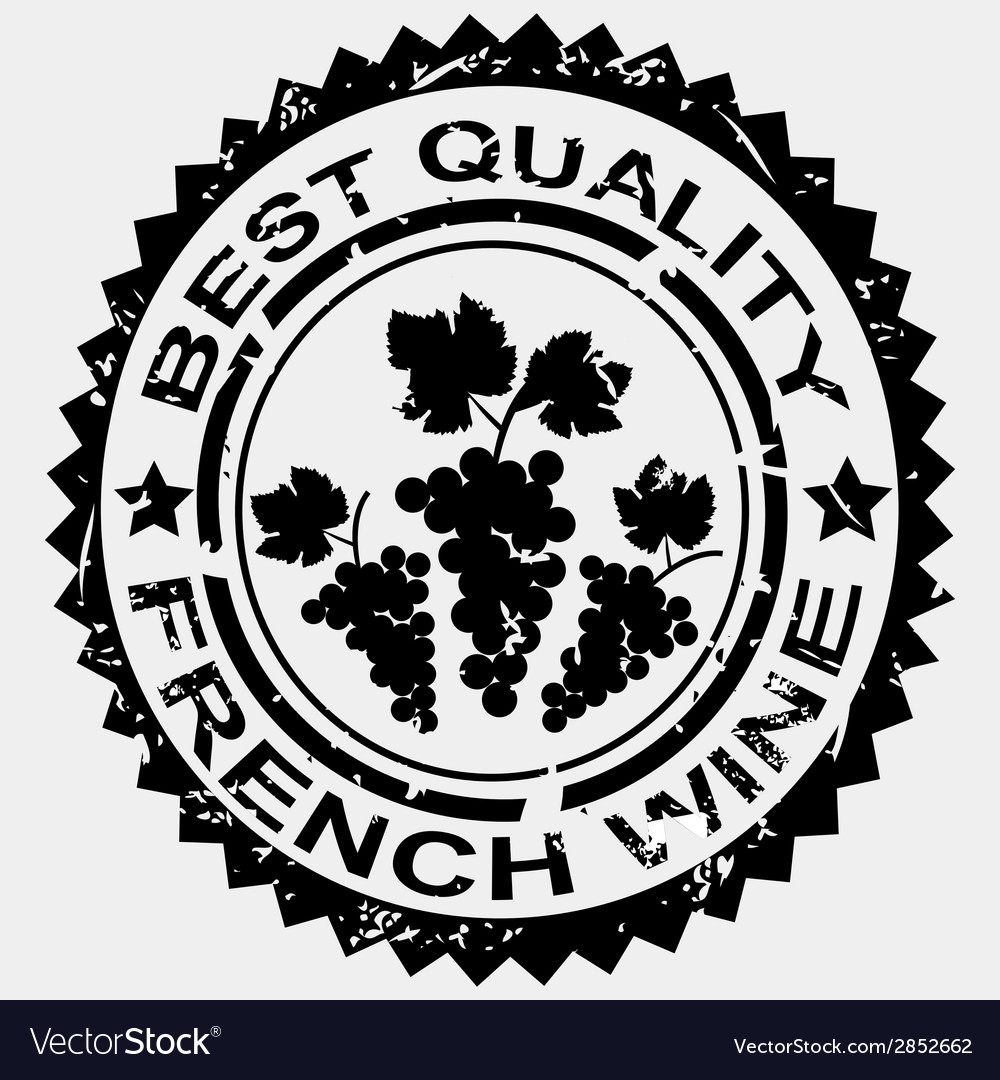 Grunge stamp quality label for french wine vector | Price: 1 Credit (USD $1)