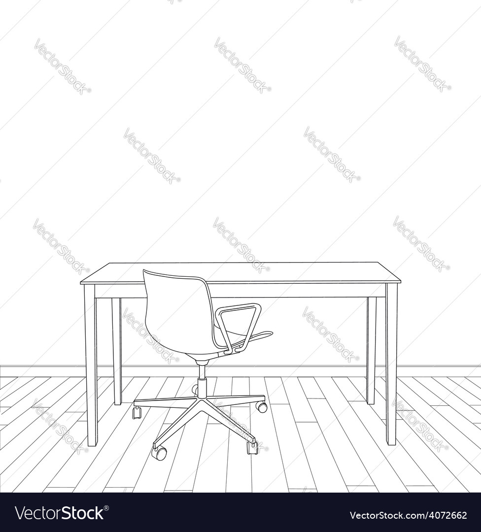 Interior office design vector | Price: 1 Credit (USD $1)