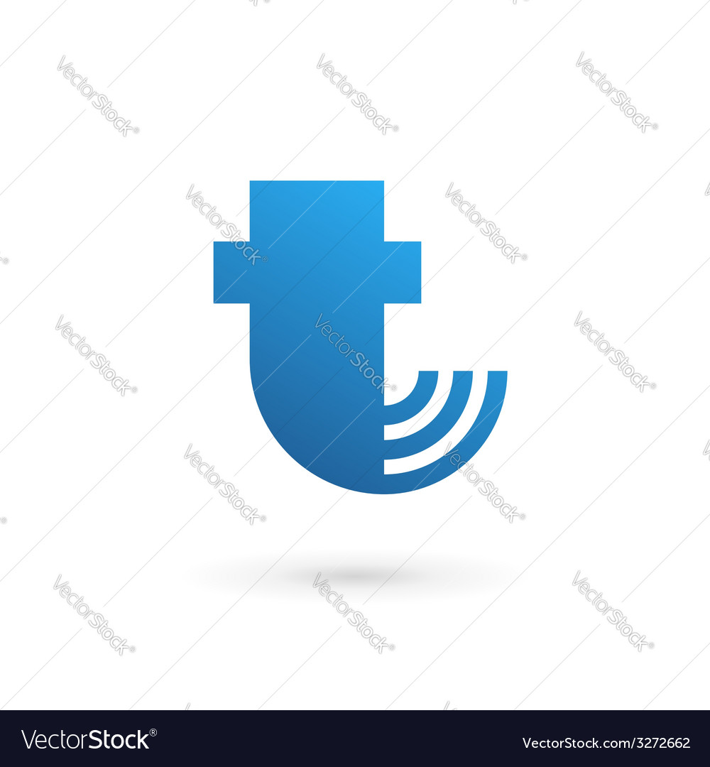 Letter t wireless logo icon design template vector | Price: 1 Credit (USD $1)