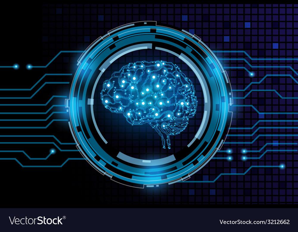 Machine brain vector | Price: 1 Credit (USD $1)