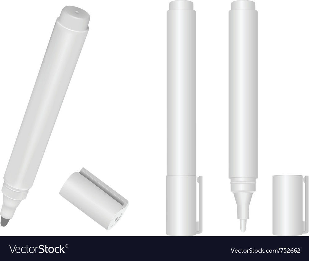 Marker white vector | Price: 1 Credit (USD $1)