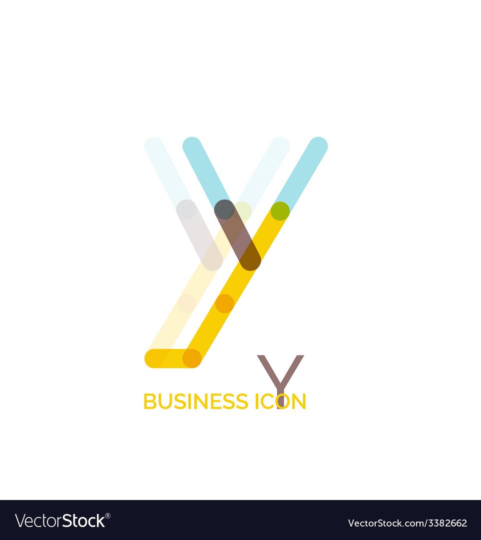 Minimal line font design letter y vector   Price: 1 Credit (USD $1)