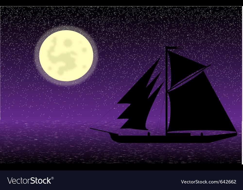 Ship silhouette vector | Price: 1 Credit (USD $1)