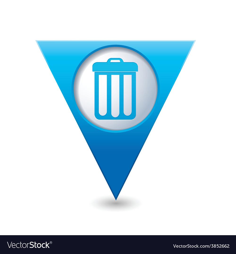 Urn blue triangular map pointer vector   Price: 1 Credit (USD $1)