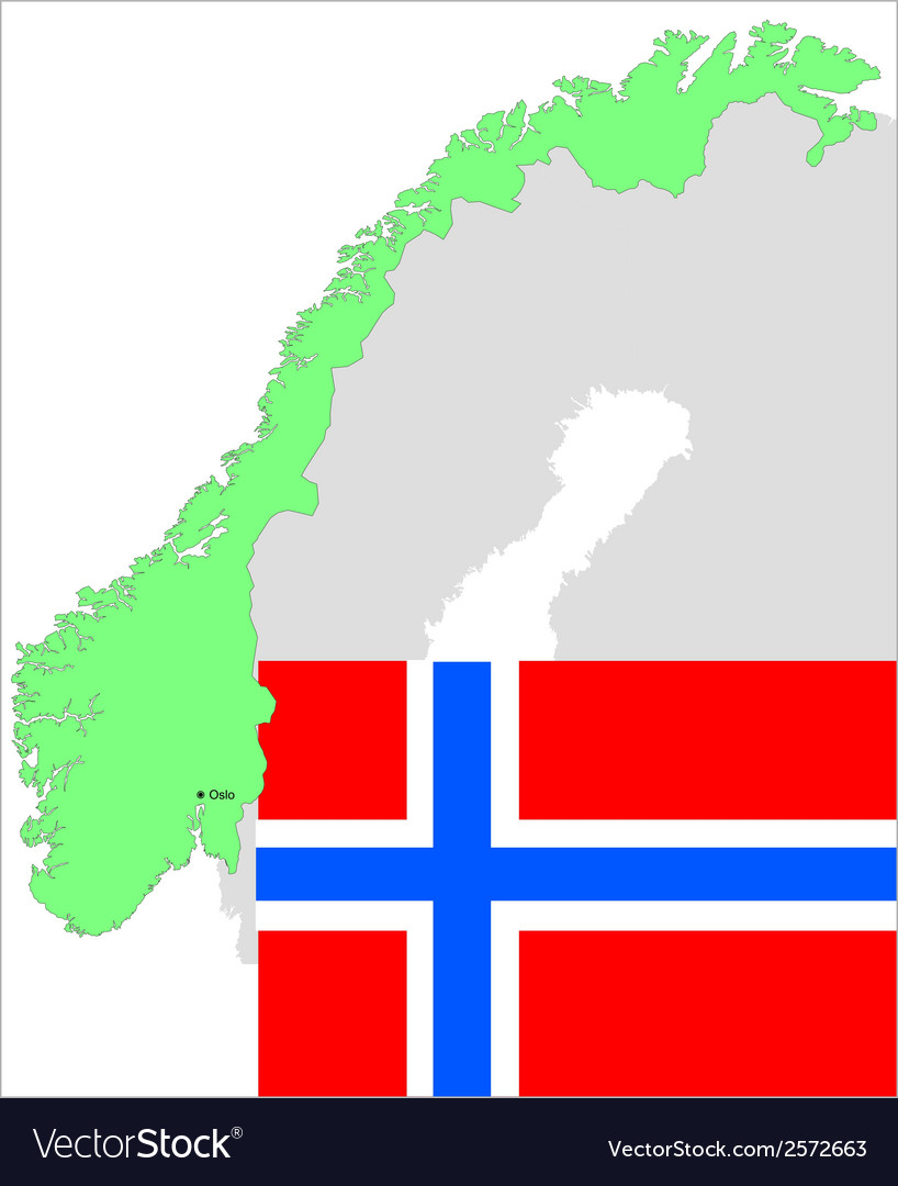 6134 norway map and flag vector | Price: 1 Credit (USD $1)
