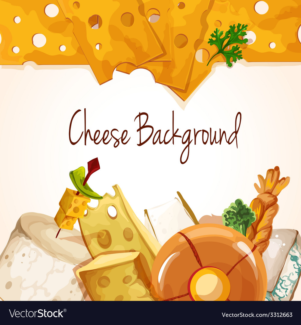 Cheese assortment background vector | Price: 1 Credit (USD $1)