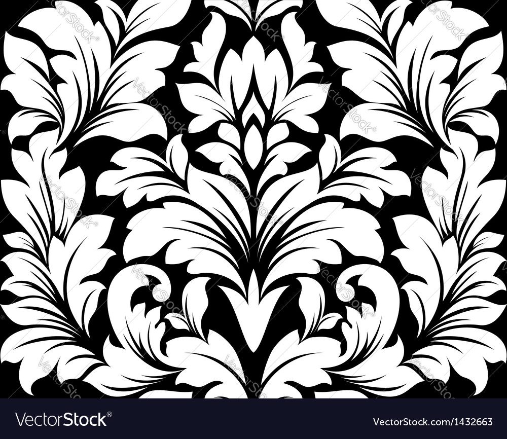 Damask seamless pattern vector | Price: 1 Credit (USD $1)