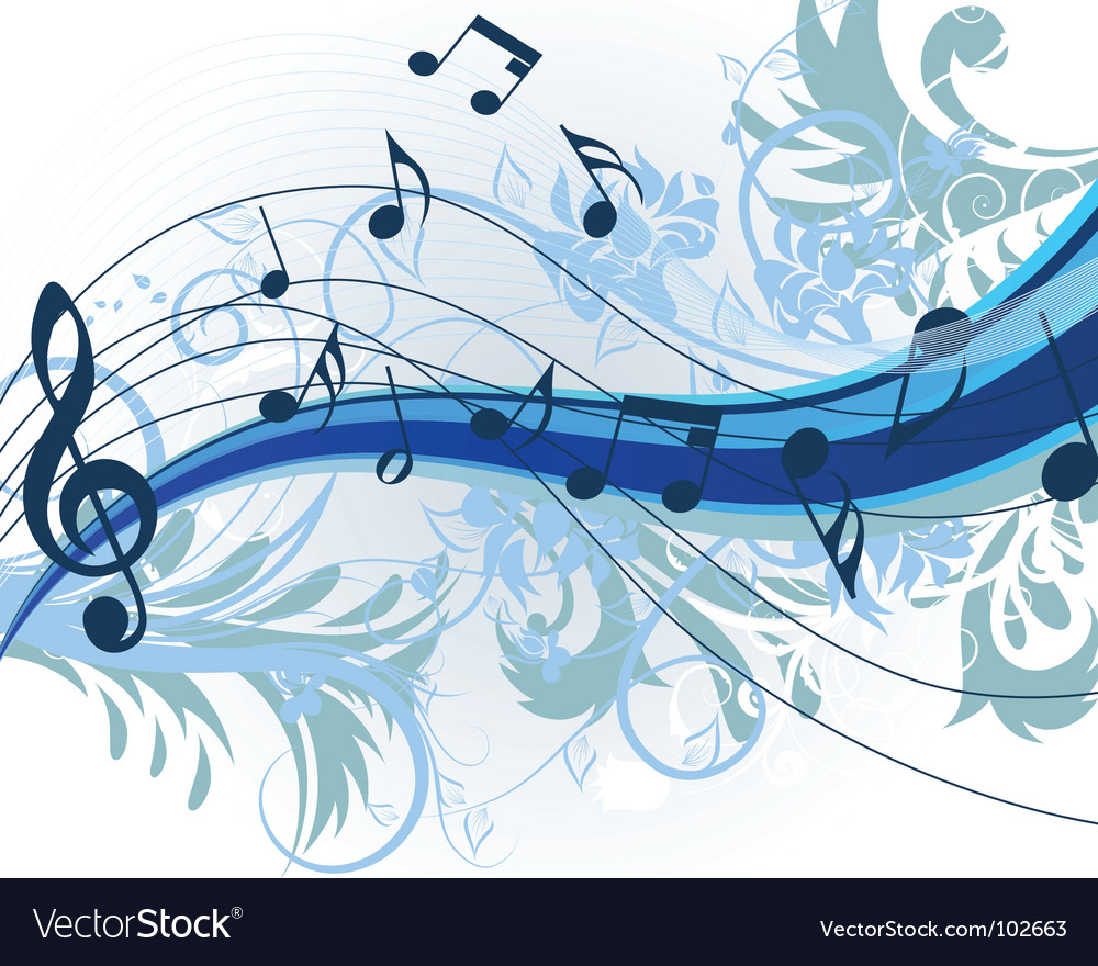 Floral music vector | Price: 1 Credit (USD $1)