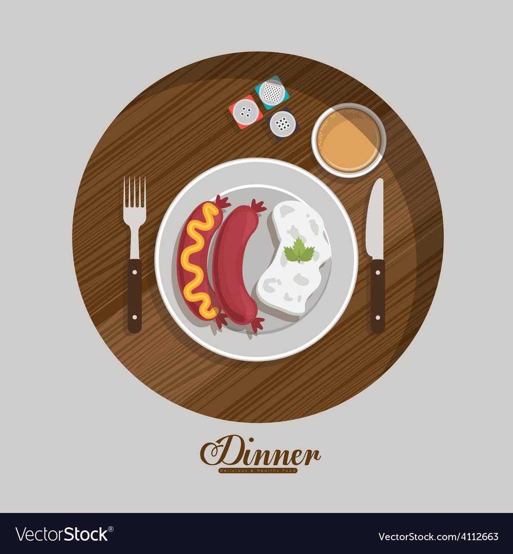Menu and food design vector | Price: 1 Credit (USD $1)