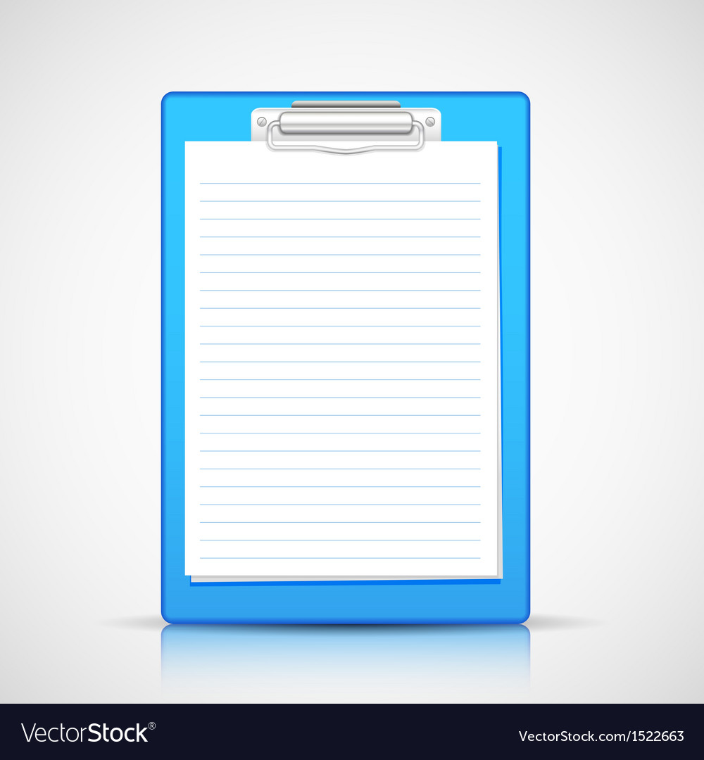 Paper in clipboard vector | Price: 1 Credit (USD $1)