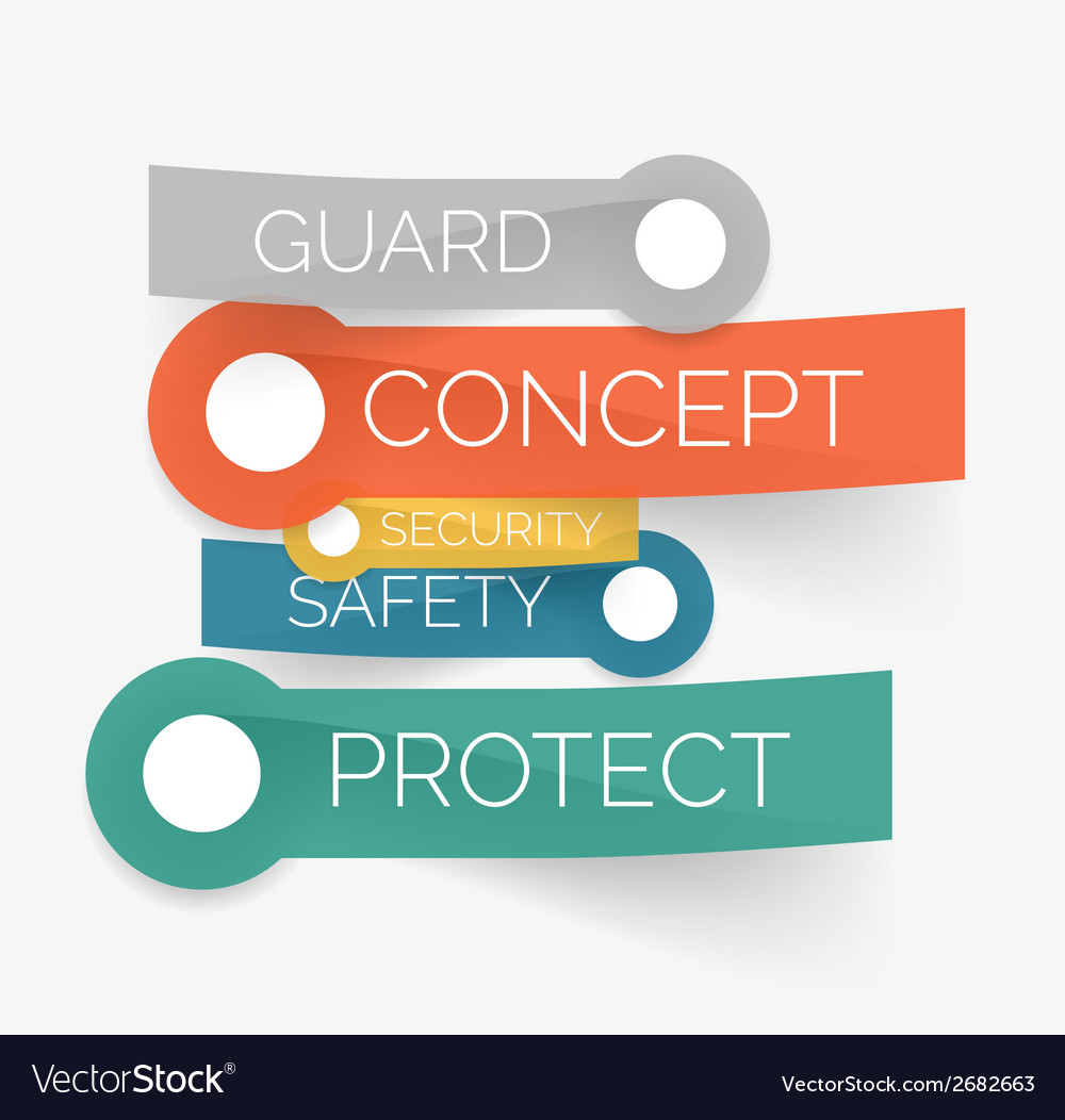 Protection tag cloud of stickers vector | Price: 1 Credit (USD $1)
