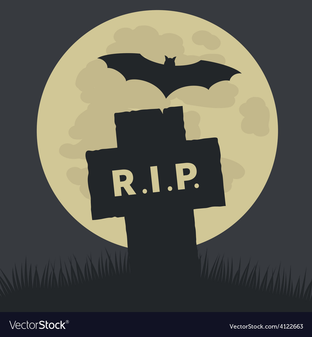 Simple rest in peace icon design vector | Price: 1 Credit (USD $1)