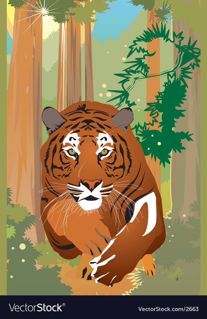 Tiger vector | Price: 3 Credit (USD $3)
