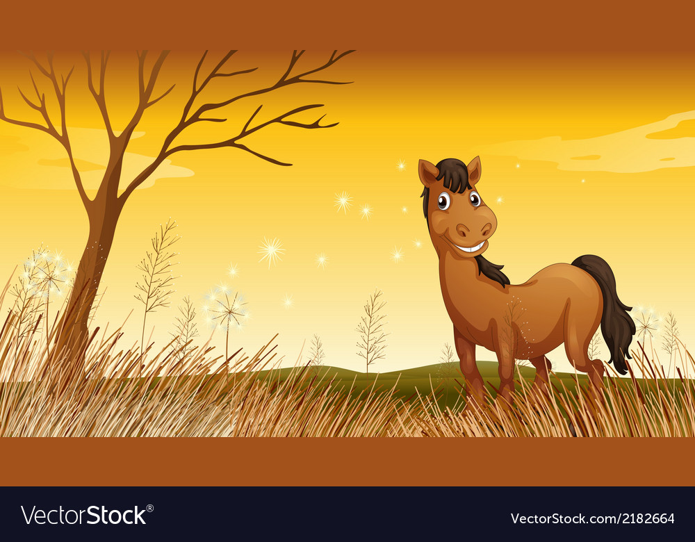 A smiling horse vector | Price: 1 Credit (USD $1)