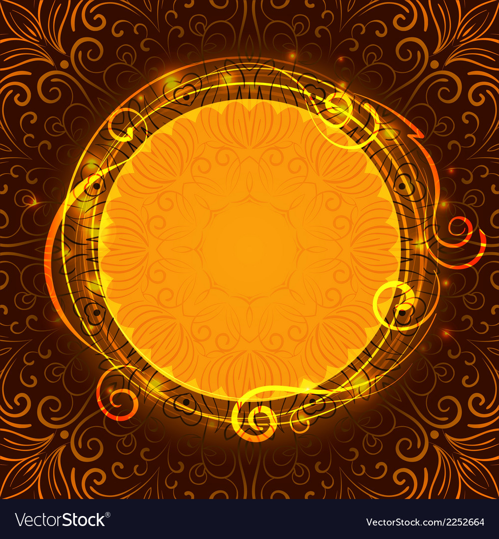 Abstract brown mystic lace background with swirl vector   Price: 1 Credit (USD $1)