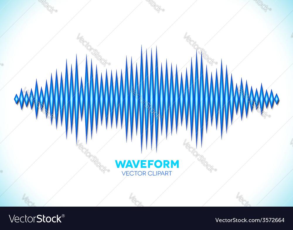 Blue sound waveform vector | Price: 1 Credit (USD $1)