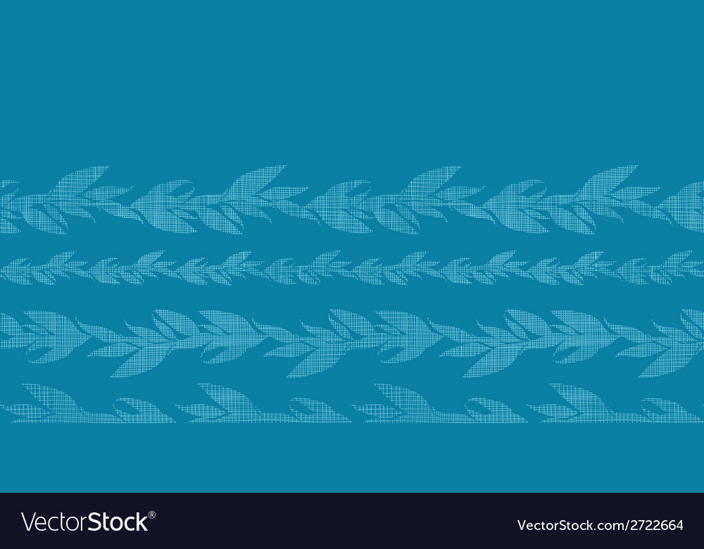 Blue vines stripes textile textured horizontal vector | Price: 1 Credit (USD $1)