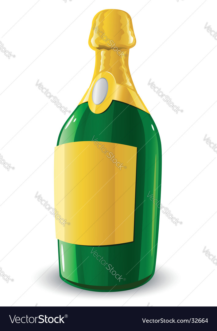 Bottle of champagne drink vector | Price: 1 Credit (USD $1)