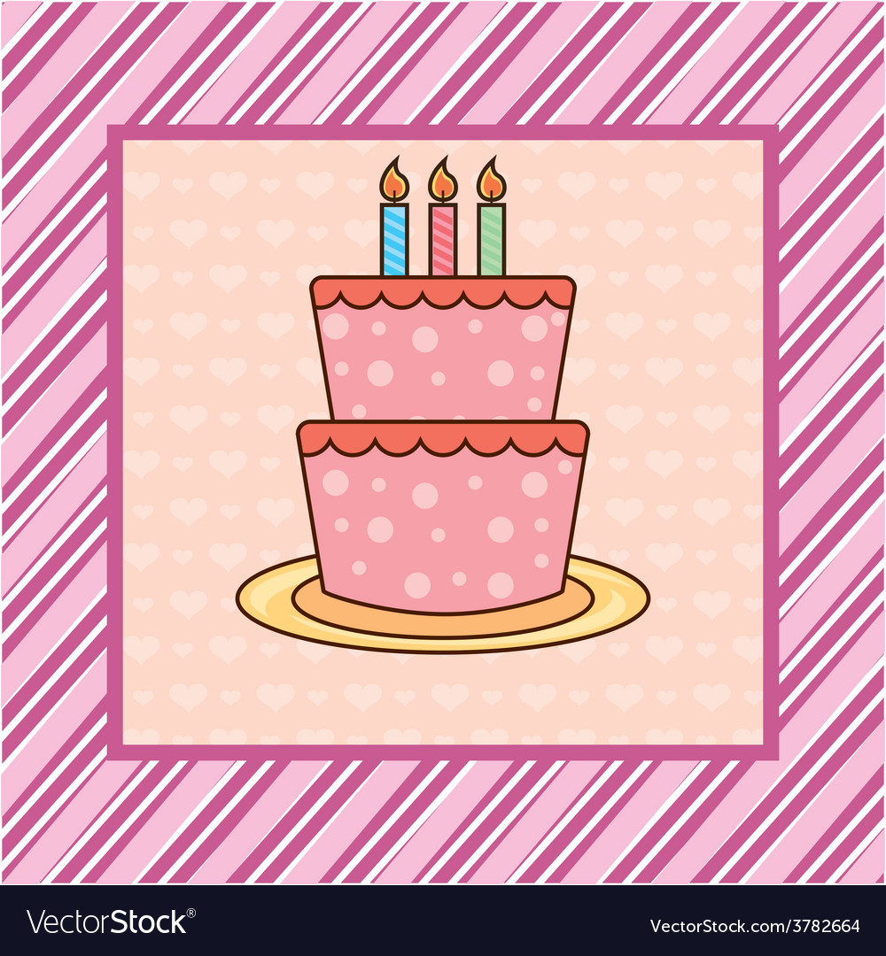 Cakebirthday vector | Price: 1 Credit (USD $1)