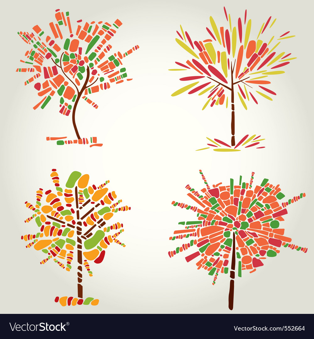 Designs with decorative tree vector | Price: 1 Credit (USD $1)