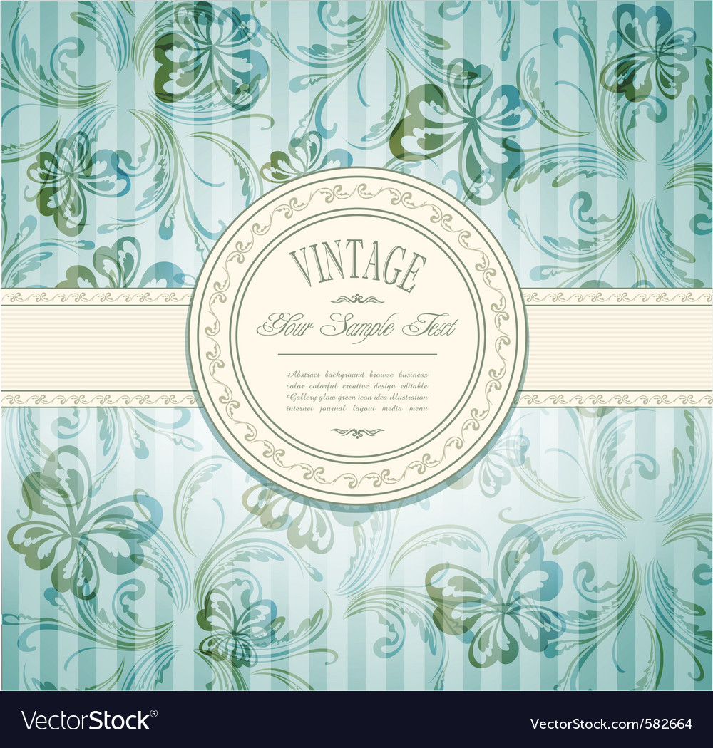 Elegant vintage invitation vector | Price: 1 Credit (USD $1)