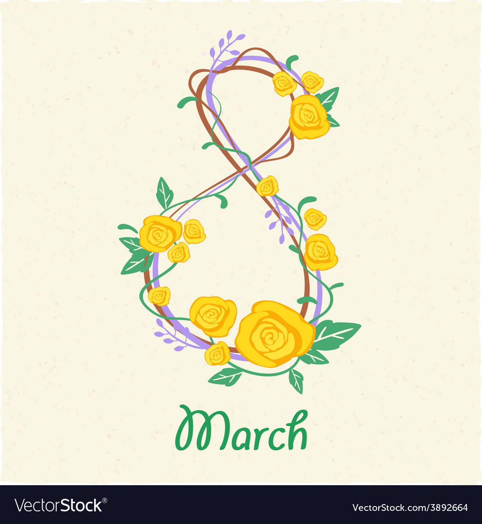 Greeting card with march 8 vector | Price: 1 Credit (USD $1)