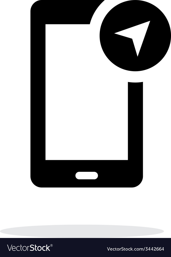 Phone navigator icon on white background vector | Price: 1 Credit (USD $1)
