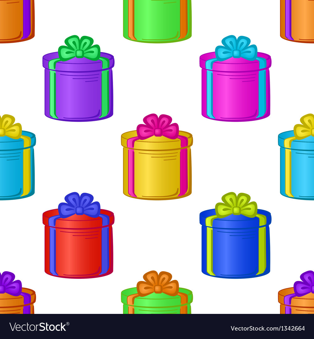 Seamless background with gift boxes vector | Price: 1 Credit (USD $1)