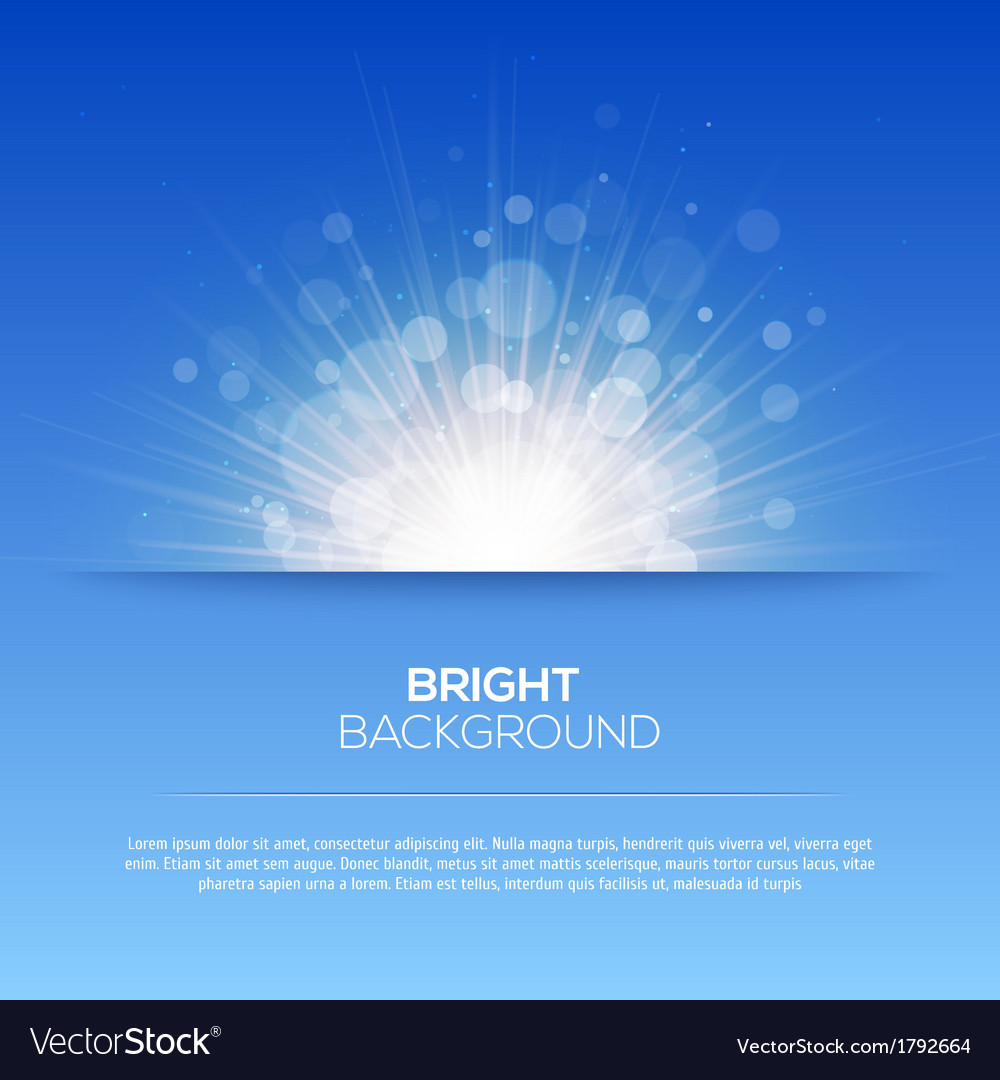 Shiny sun  sunbeams sunrays bokeh vector | Price: 1 Credit (USD $1)