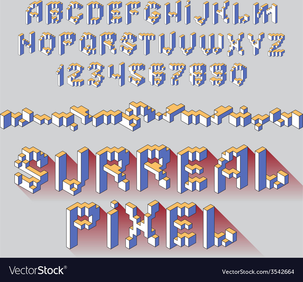 Surreal cube alphabet vector | Price: 1 Credit (USD $1)