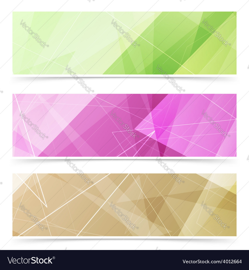 Triangular pattern web footer collection vector | Price: 1 Credit (USD $1)